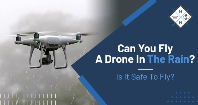 can you fly a drone in rain