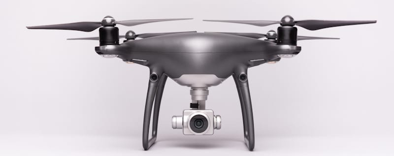 gray drone in white background