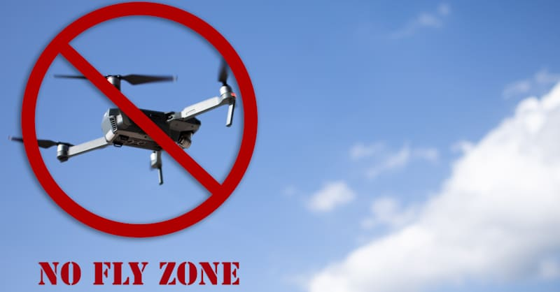 no fly zone drone regulation