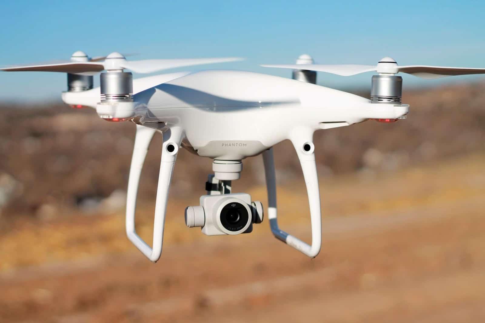 phantom drone flies in clear sky
