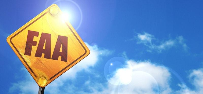 FAA in street diamond sign