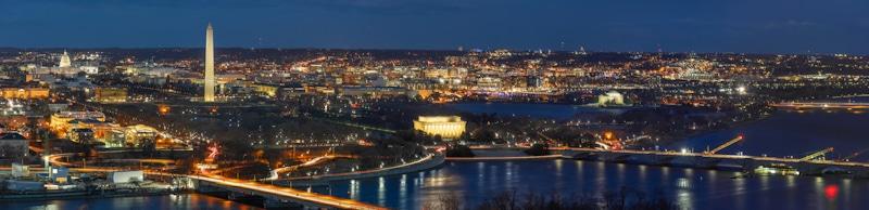 Washington DC evening skyline