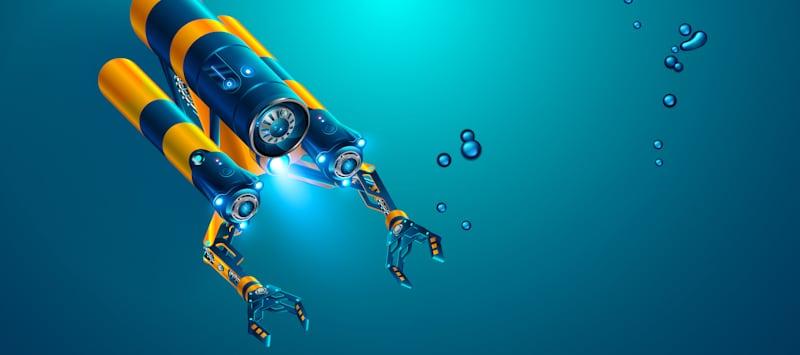 autonomous underwater rov drone