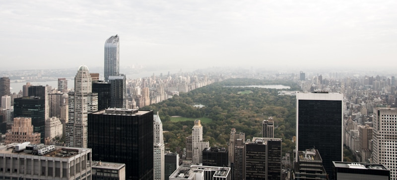 cloudy view of central park
