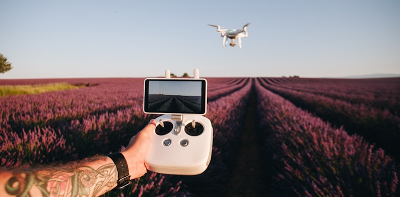 drone controler and drone flying with one hand