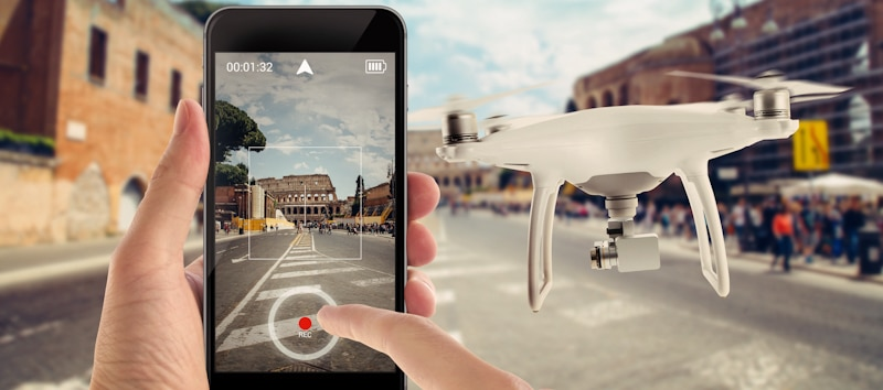 drone flown by a phone