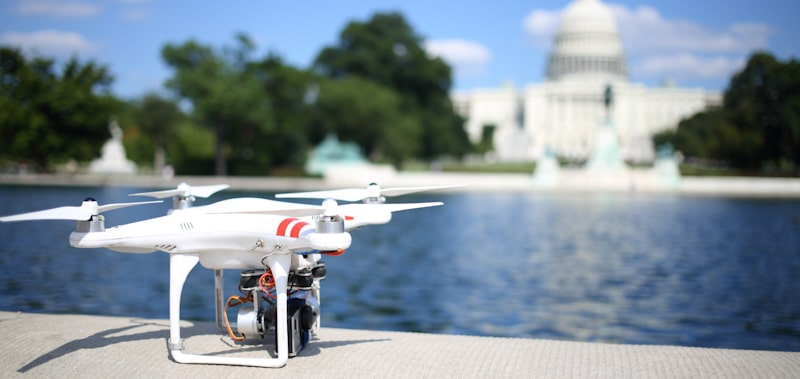 drone stationed outside the capitol washington dc