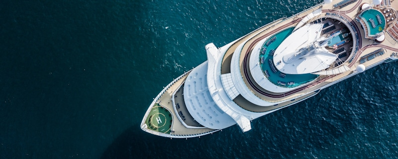 drone view of a cruise