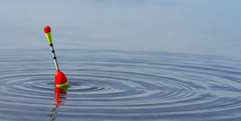 fishing bouy dropped in middle of water