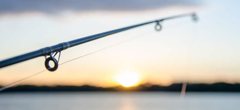 fishing line on lake