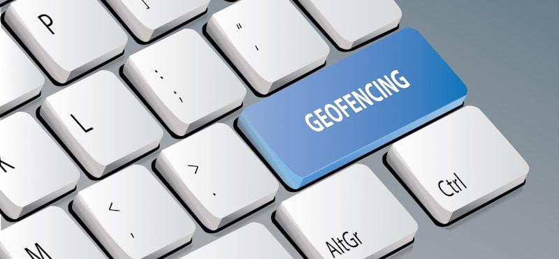 geofencing on keyboard