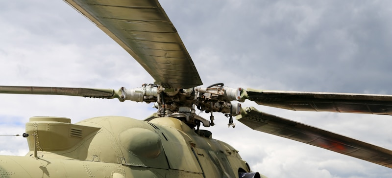 helicopters rotor system upclose