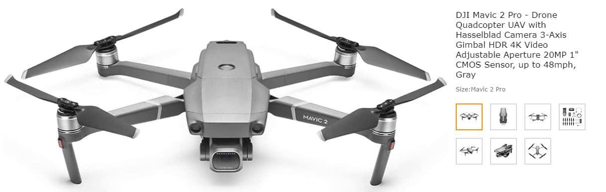 DJI Mavic Pro drone screenshot