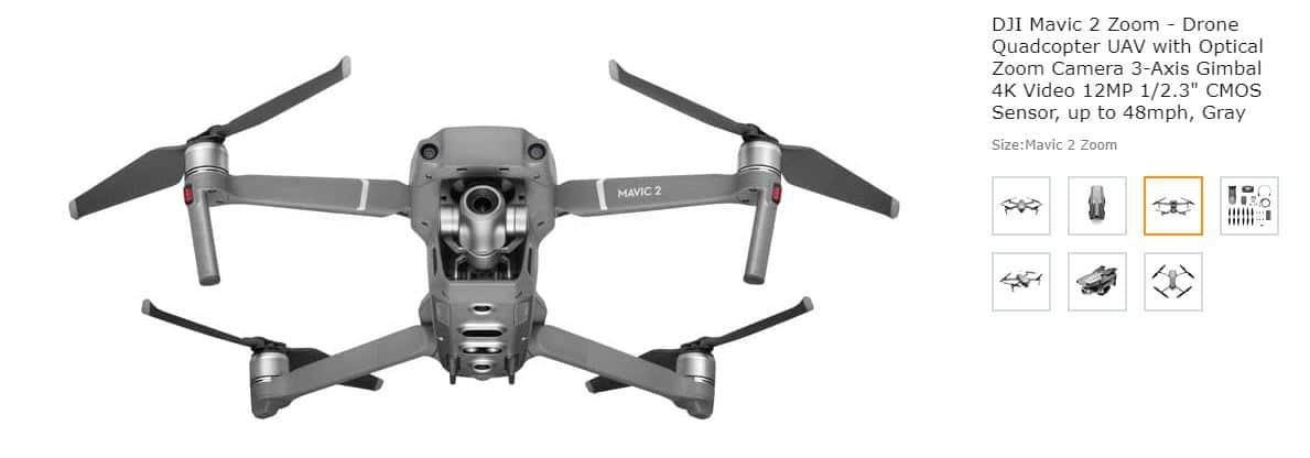 DJI Mavic Zoom quadcopter drone