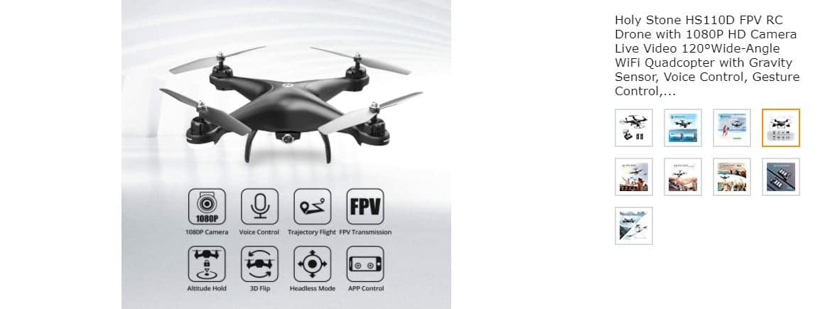 Holy Stone HSD FVP RC Drone