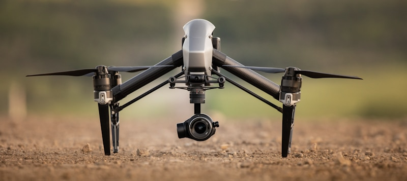 dji drone on the ground