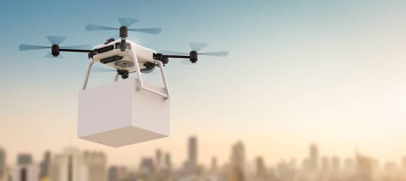 drone carries package