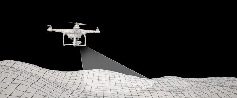 drone scouts terrain