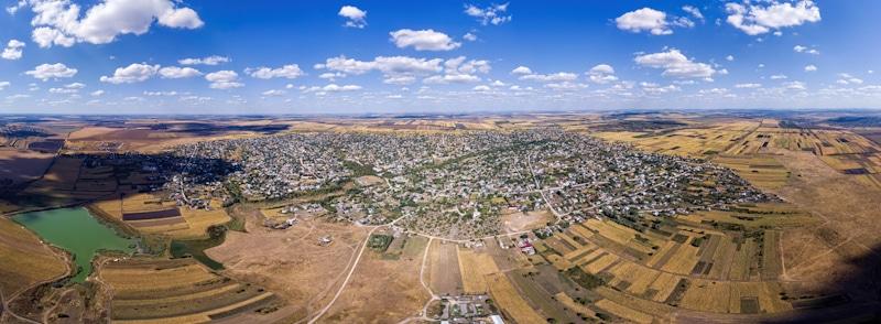 drone shot of landscape beyond line of sight