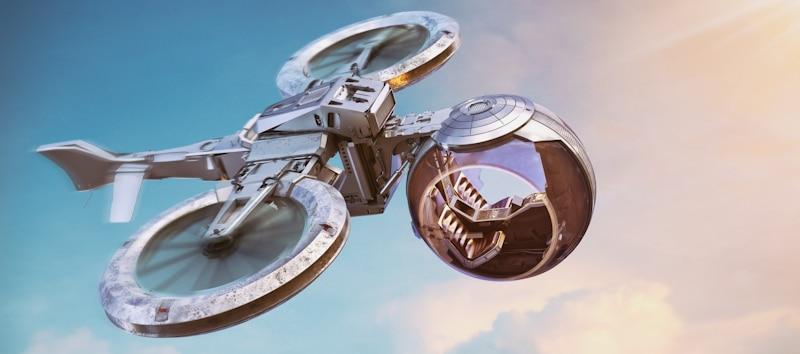 futuristic plane drone hybrid for people