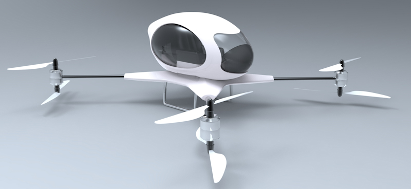 helicopter drone for passengers