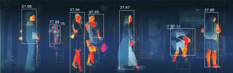 infrared cam scans heat in crowd