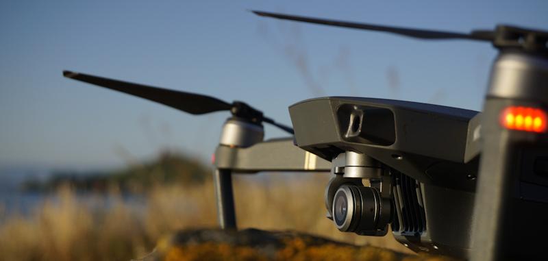 mavic pro drone up close shot