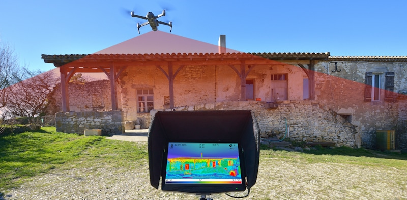 military drone scans properties for heat