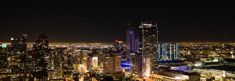 night time picture of LA landscape