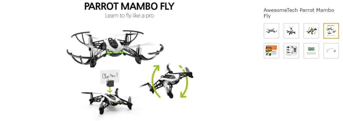 parrot mambo fly drone screenshot