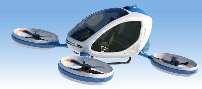 quadcopter single passenger drone
