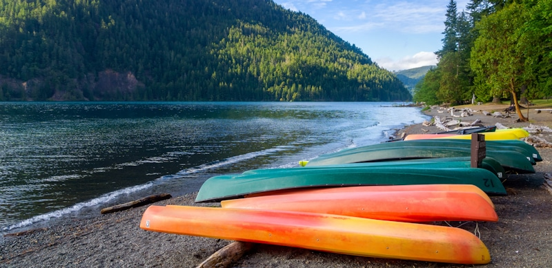 state park territory canoes by lake