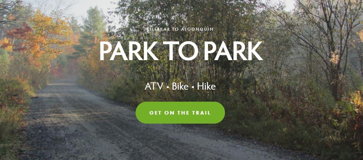 screenshot park to park trail site