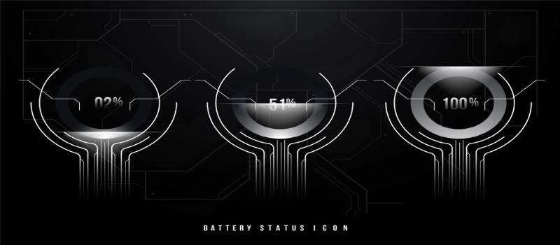 Batterychargingfuturisticview