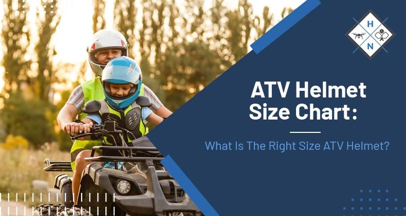 atv helmet size chart