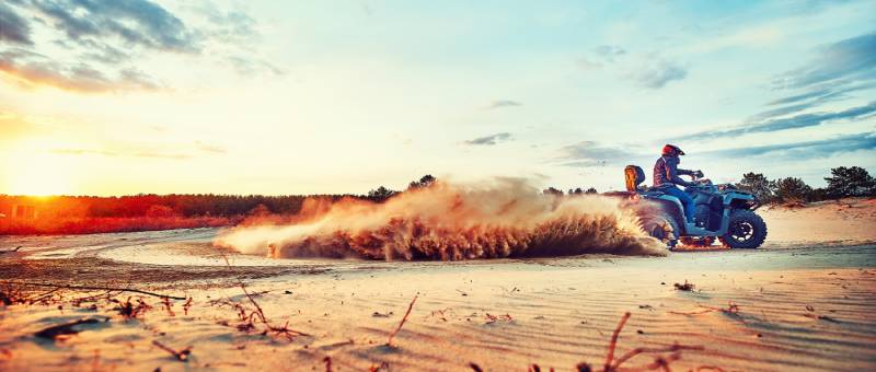ridinganATVinsand dunes