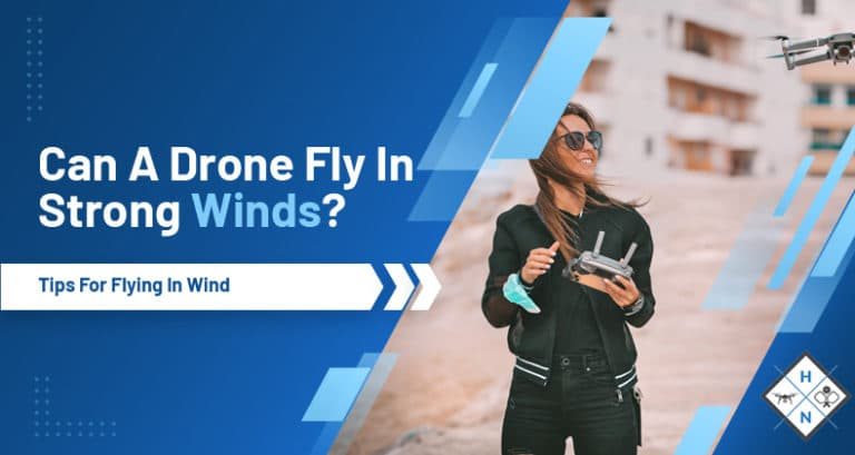 can a drone fly in the wind
