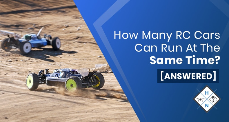 how many rc cars can run at the same time