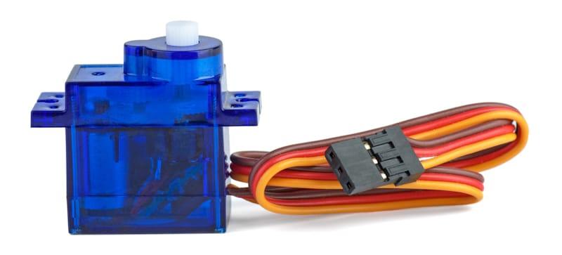small blue servo for rc car